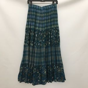 Skirts - Bobbie Brooks Skirt Size 4 6 Small Green Blue